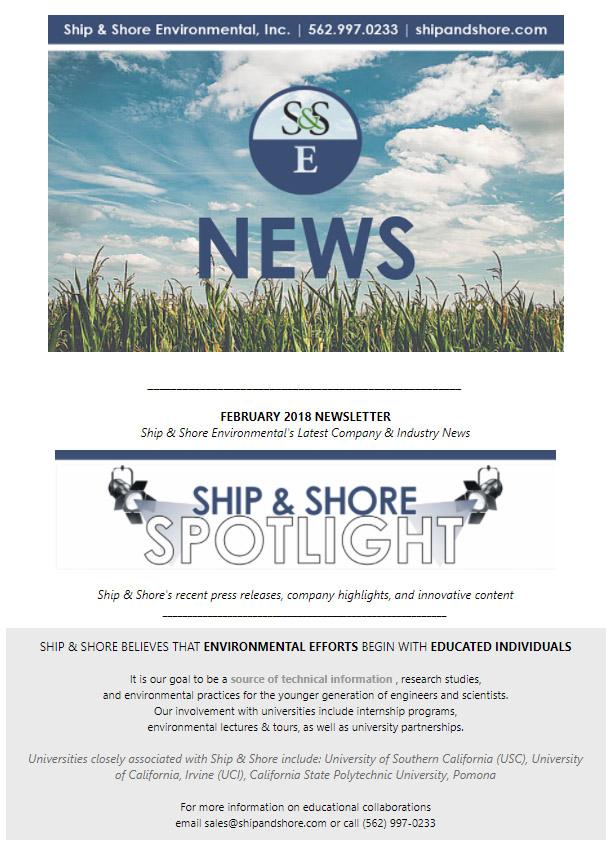 February 2018 Newsletter – Ship and Shore