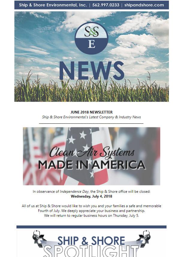 Ship and Shore Newsletter – June 2018