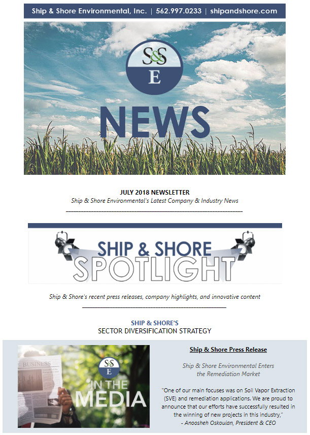Ship and Shore Newsletter – July 2018