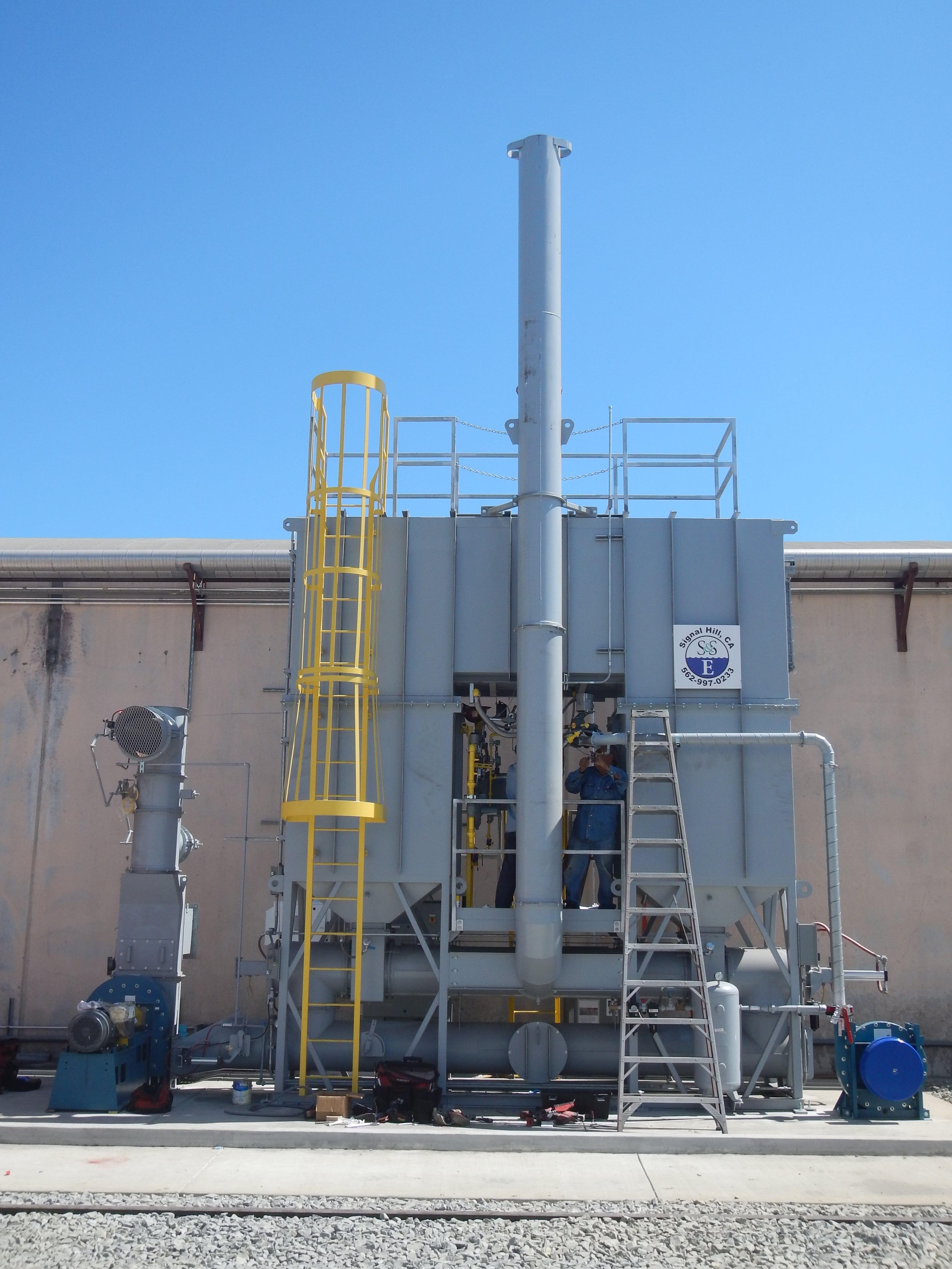 4,000 SCFM Regenerative Thermal Oxidizer for Plants