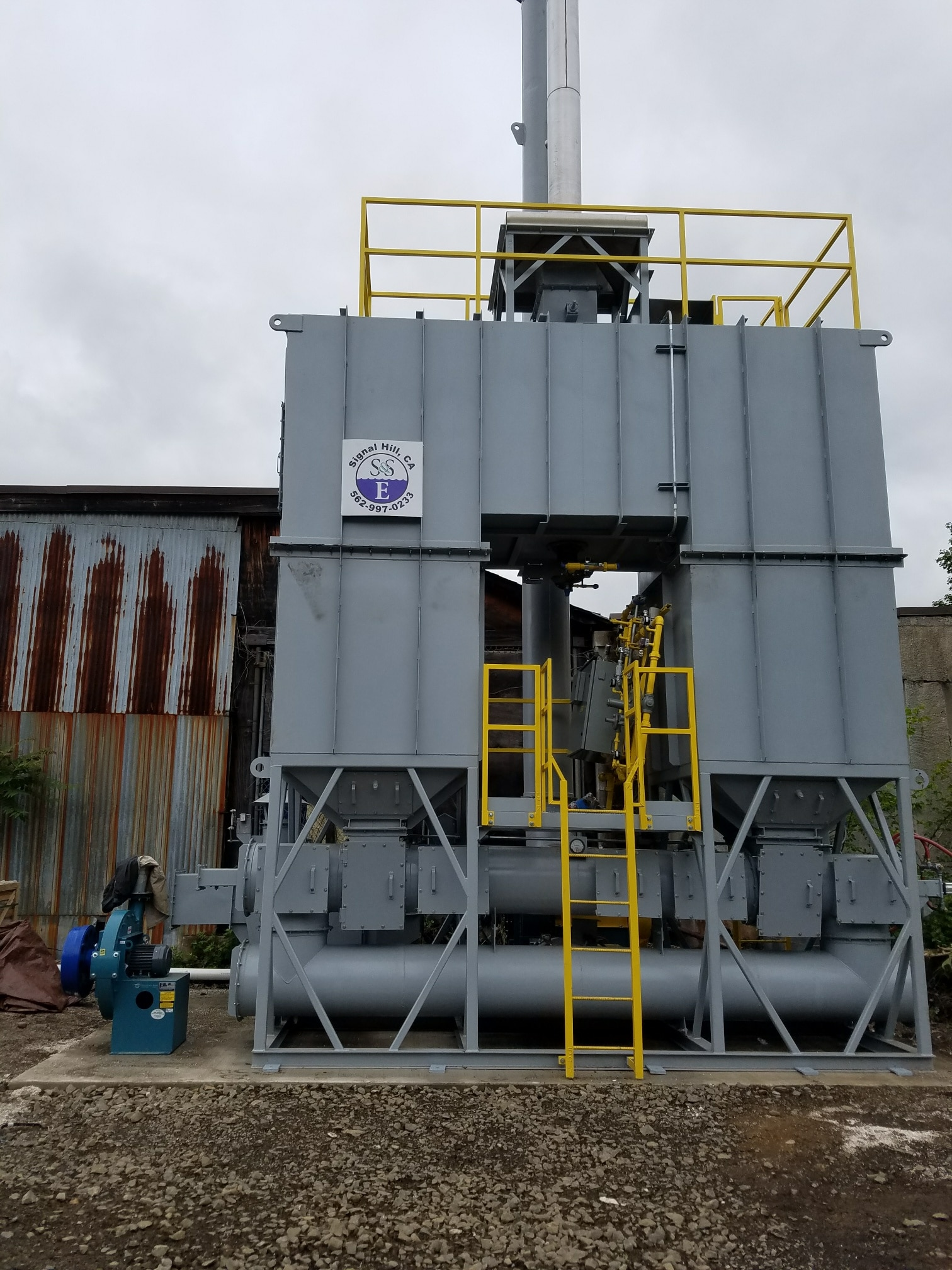 5,000 SCFM Regenerative Thermal Oxidizer with Hot By-Pass