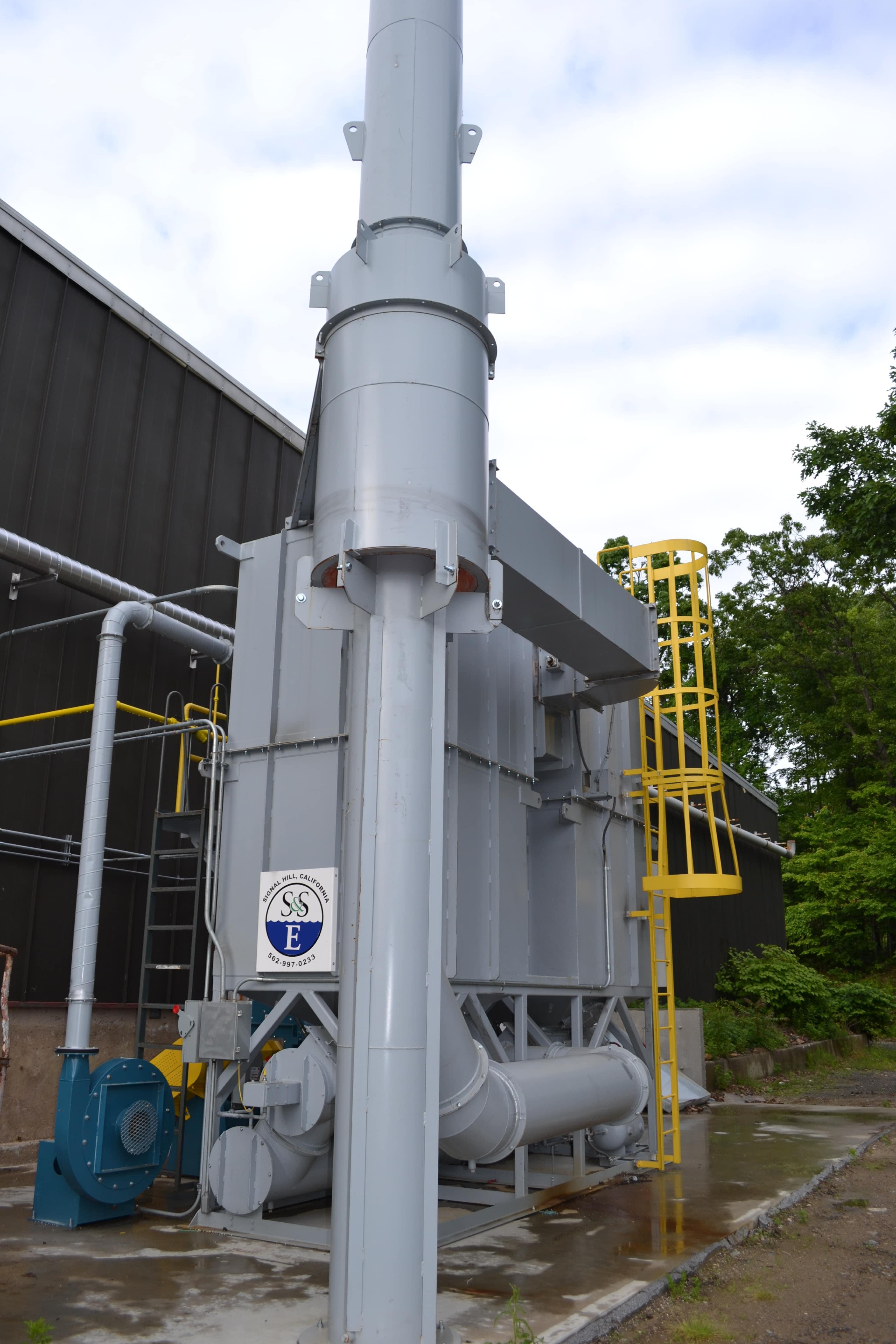 5,000 SCFM Regenerative Thermal Oxidizer Corner