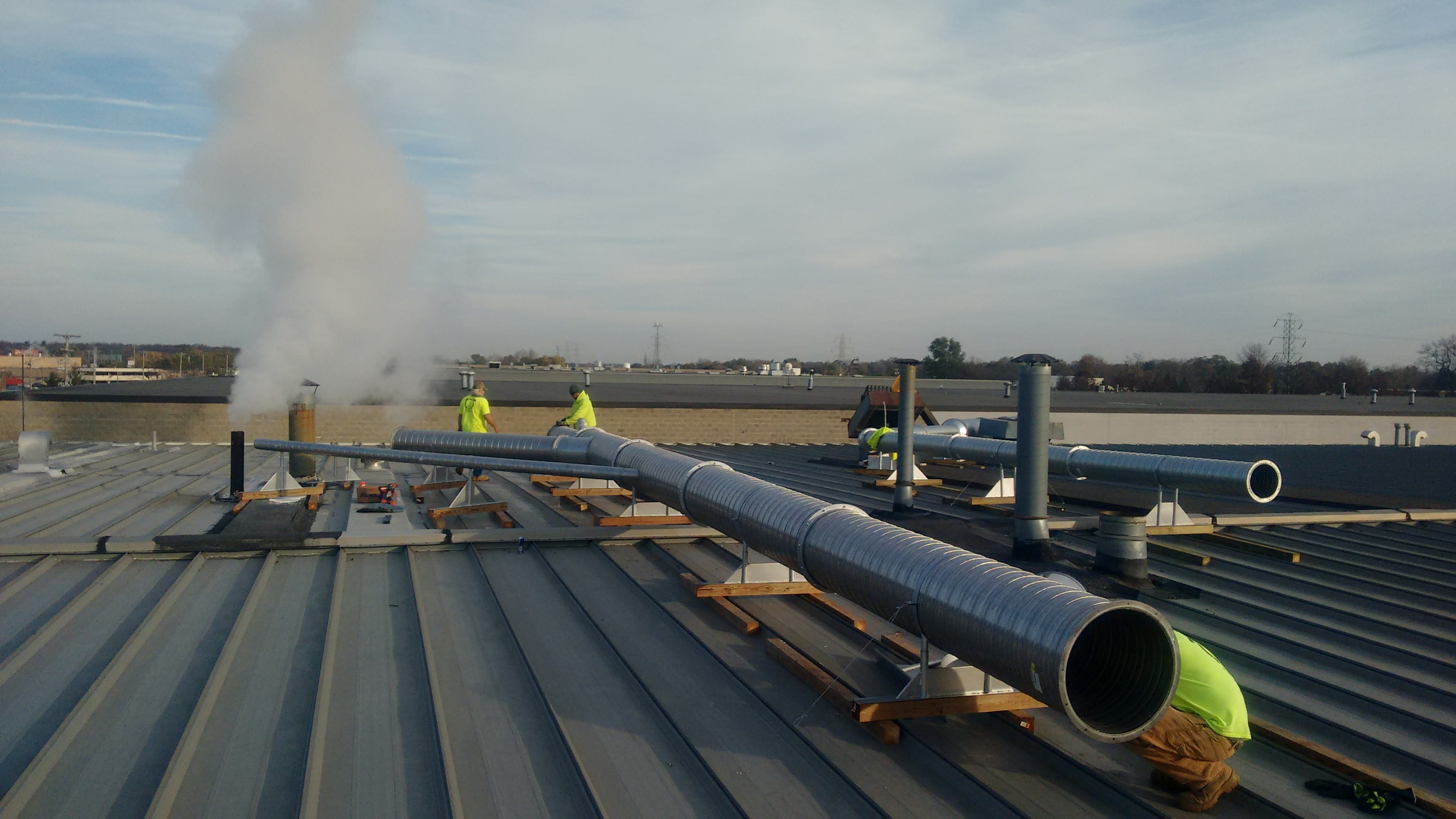 Duct Installation 10,000 SCFM Regenerative Thermal Oxidizer
