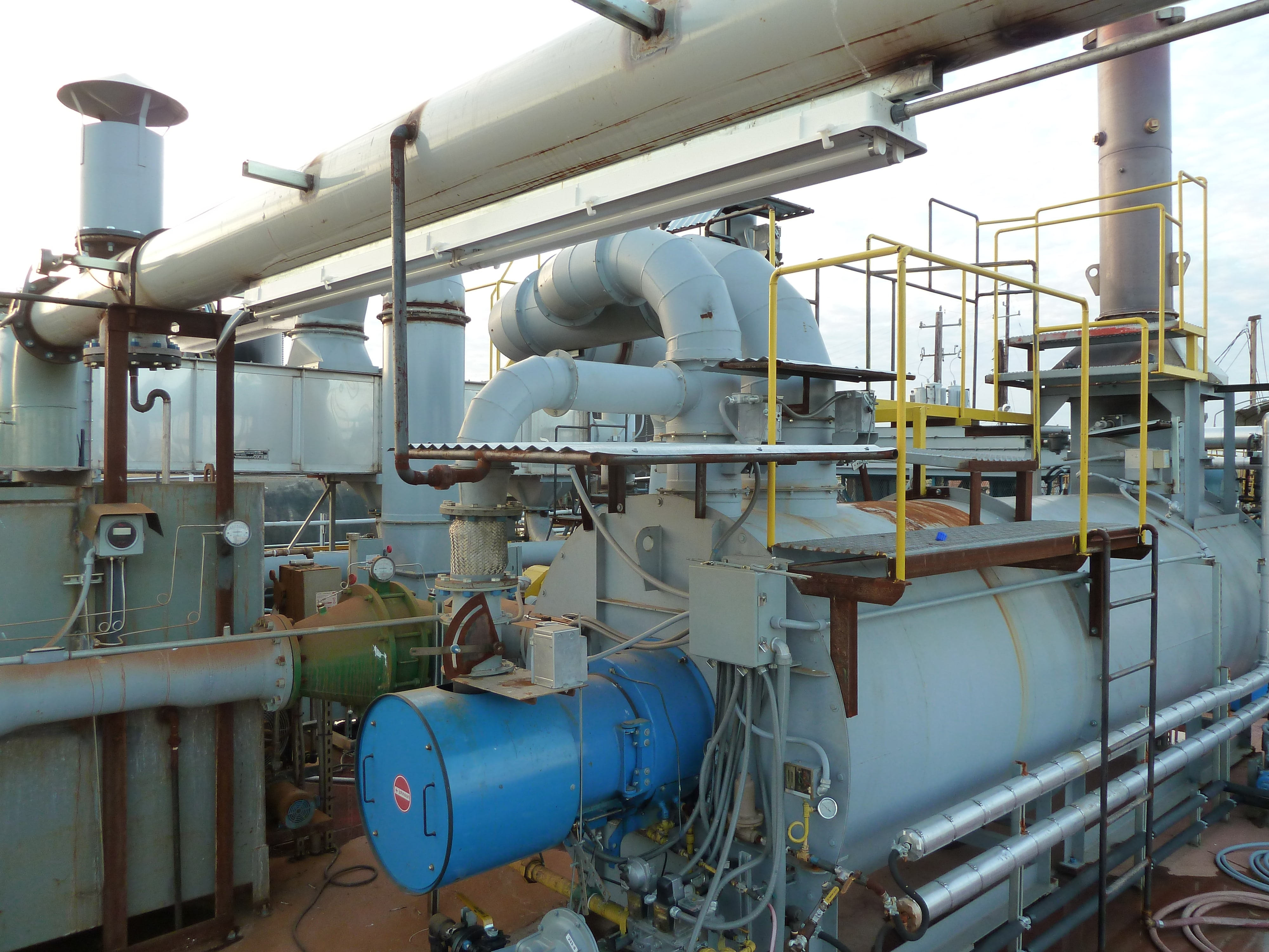 Steam Generating Thermal Oxidizer for Plants