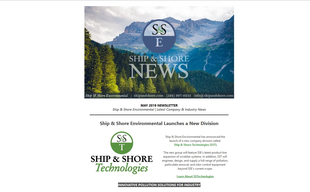 Ship and Shore Newsletter – May 2019