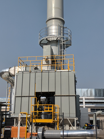 10,000 SCFM Ship & Shore RTO and Concentrator System for paint and coating facility in China