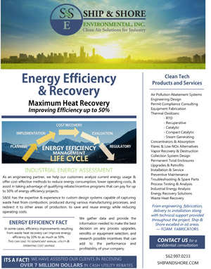 Energy Efficiency & Recovery Brochure